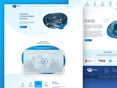 Learning Development Web Design Proposal logo design web design ui design interface design clean design blue website web ui minimal landing page homepage
