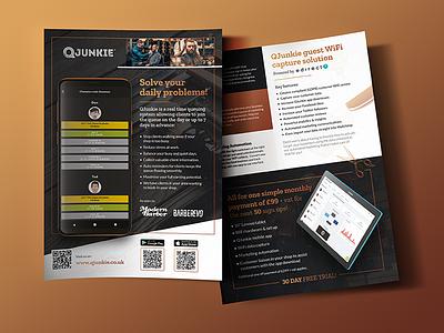 Booking App Product Flyer graphic design leaflet print a5 flyer barber