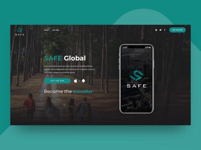 Website Landing Page Design for Safety App