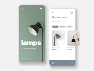 LAMPS | An app design remake using Adobe Xd