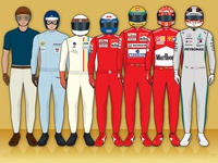 70 Years of Drivers World Champions Poster Detail