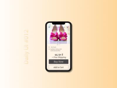 Daily UI #012 - E-Commercial Shop Single Item