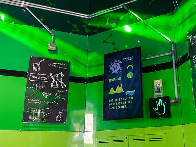 Kids Info Center interactive ui exhibition