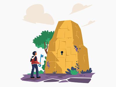 Get Started - Illustration starter startup journey adventurer adventure started get started branding website graphicdesign graphic design vector illustration graphics character vector illustration design
