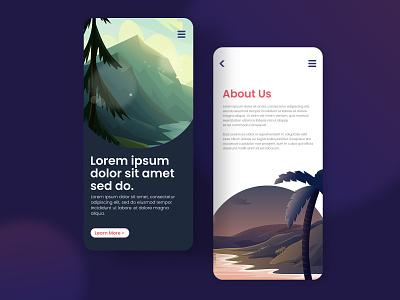 Scenic Background design vector ux ui graphics vector illustration graphicdesign illustration background design