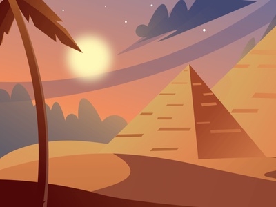 Egypt ( day- night- sunset) Scenic Illustrations landmarks pixel true free png beautiful background background illustrations free illustrations