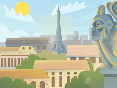 France ( day- night- sunset) Scenic Illustrations landmarks pixel true free png beautiful background background illustrations free illustrations