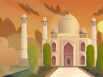 India (day-night-sunset) Scenic Illustrations landmarks pixel true free png beautiful background background illustrations free illustrations