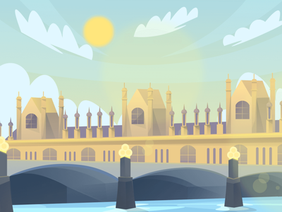 London (day-night-sunset) Scenic Illustrations landmarks pixel true free png beautiful background background illustrations free illustrations