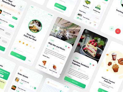 Food Ninja by Pixel True freebies free ui free illustrations vegan green vegetarian branding food delivery app free ui design pixel true ui design free ui kit ui kit