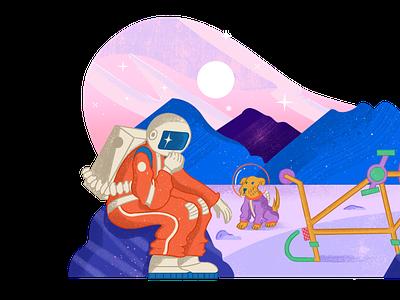 Built for Mars - Space Illustrations design branding pixel true free illustration illustration