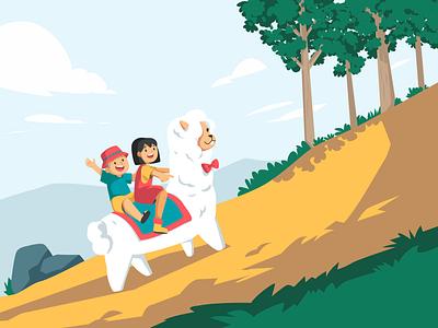 Attic Altpaca Illustration free illustration children illustration cute illustration illustration