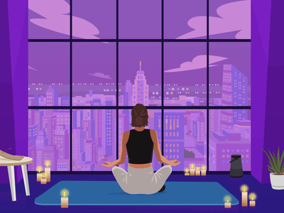 Meditation Illustration & Animation free animation yoga exercise meditation free illustration animation illustration