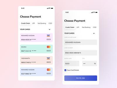 Digital Payment Checkout finance app design mobile ui ui minimal uiux ecommerce payment digital wallet payment fintech
