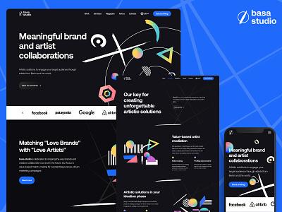 Responsive website design | dark theme dark theme branding illustration landing page design homepagedesign ui ux design agency website desktop mobile responsive blacktheme