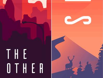The other side typography artwork illustrator vector design flat design illustration