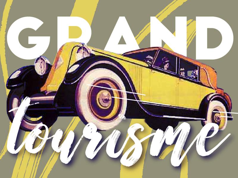 Grand Tourisme vector artwork flatdesign illustrator illustration typography design