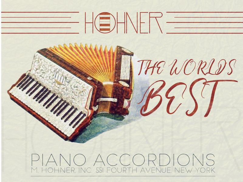 Hohner Accordions artwork flat design illustration illustrator vector typography design