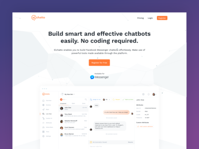 Elchatto Landing Page