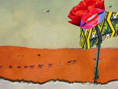 Tall Poppy Syndrome illustrator digital collage photoshop