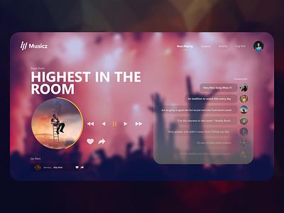 Music Website design ux photoshop clean design uidesign adobexd 2020 uiux ui clean ui