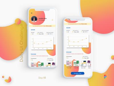 Daily UI Challenge: Day 05: Profile Screen ux design figma ui  ux design ui design mobile ui profile ui profile design