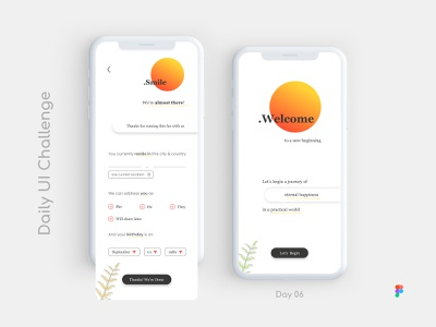 Daily UI Challenge: Day 06: Register Screen_Part 02 figma mobile ui ux design ui design sign up form sign up ui register form