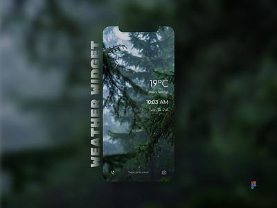 Weather Widget: Forest-themed figma mobileui weatherwidget uxdesign uidesign