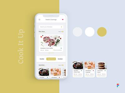 Recipe App with Voice Command uidesignchallenge figma mobile ui uxdesign uidesign