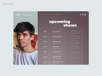 Daily UI 070 - Event Listing concert music band event listing event daily ui 070 daily ui 70 daily ui dailyui