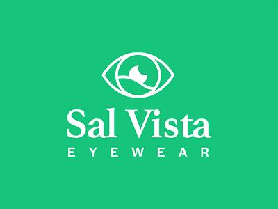 Sal Vista healthcare fitness health simple vector illustrator vista eye eyewear logo visual identity branding and identity branding