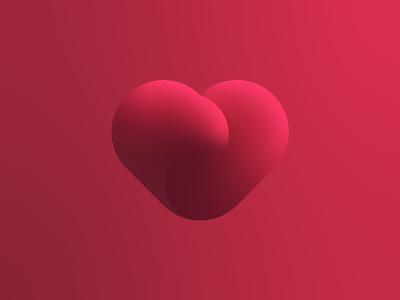 Gradient Heart Mark flow health vector branding logo mark gradient fitness illustration heart mark logo illustrator