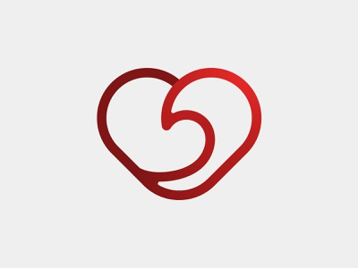 Flow branding branding and identity visual identity flow heart illustrator vector simple health logo fitness healthcare