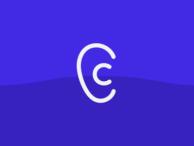 Cadence healthcare simple vector logo ear visual identity branding and identity branding audio app wellness fitness health