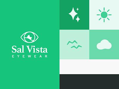Sal Vista Eyewear - Icon Illustrations halyard athelas birds icon cloud moon stars sun branding brand identity logo vista eye illustration vector simple health fitness healthcare