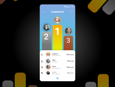 Leaderboards - Daily UI 019