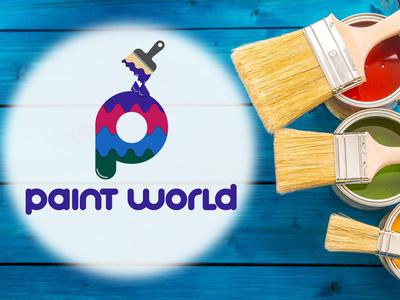Paint World Logo Design