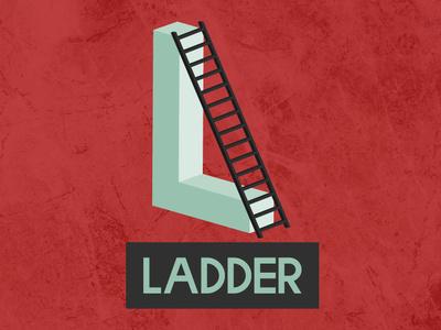 Ladder Logo vector colors lettering ladder realestate 3dlogo 3d letterlogo company illustration colorful logo graphicdesign brand identity branding logo design logo