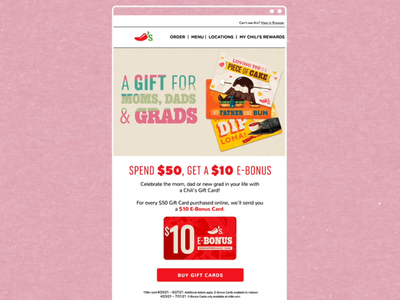 Summer Giftcards Email