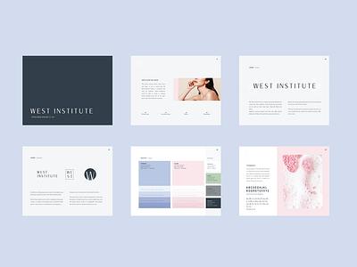 West Institute Styleguide logo concept logo design logo branding concept editorial layout layout design layout branding agency brand design editorial brand guidelines branding