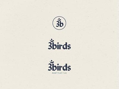 3birds Meditative Logo Suite iconography sanskrit typography yoga meditation wellness logo designer logo concept logo design logo brand identity branding agency brand design branding