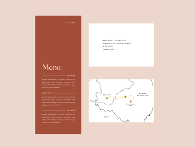 Wedding Menu and Map