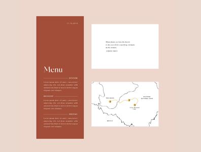 Wedding Menu and Map