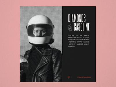 "10x19 No. 9 ""Diamonds & Gasoline"" by Turnpike Troubadours concept design conceptual concept 10x19 country music album cover design album artwork album cover album art album halftone typography type"