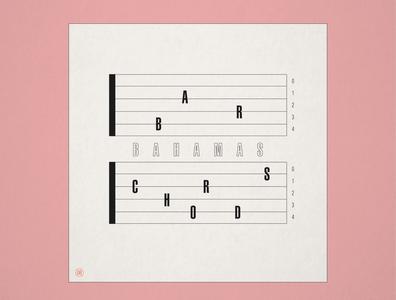 """10x19 No. 8 """"Bar Chords"""" by Bahamas"""