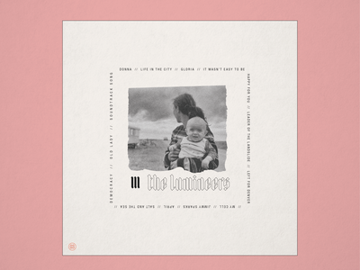 """10x19 No.3 """"III"""" by The Lumineers typography type blackletter retro folk conceptual concept design concept the lumineers cover art album cover design album cover album artwork album art album 10x19"""