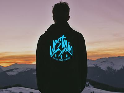 Black Hoodie Mountain Design Upstain Wear Original Brand outerwear fashion mountain design hoodie