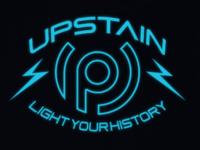 Upstain Wear Trade Mark Glow Blue In The Dark Tshirt Design