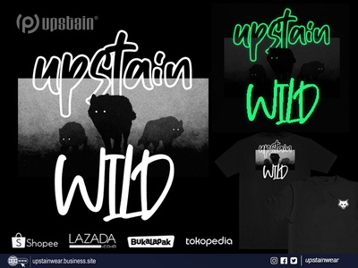 Upstain Wear Glow In The Dark Tshirt Wild Wolf Edition