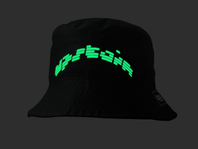 Upstain Wear Glow In The Dark Design Buckethat glow apparel streetwear buckethat glow in the dark design cap fashion